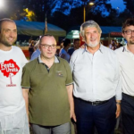 Con Roberto Galletti, l'On. Luciano Pizzetti ed il Ministro Poletti