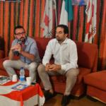 Con Alessandro Alfieri, segretario regionale del PD