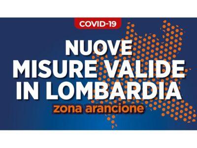 Lombardia in ZONA ARANCIONE. Ecco cosa cambia e le principali misure che saranno valide a partire dal 24 gennaio